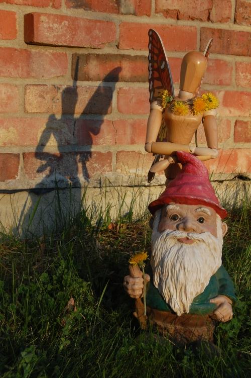 Garden Gnome Gets a Dandelion