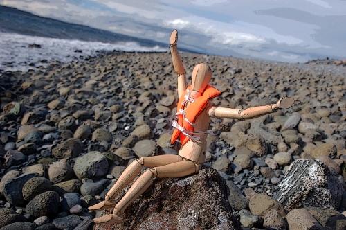 Storm survivor is safe on shore